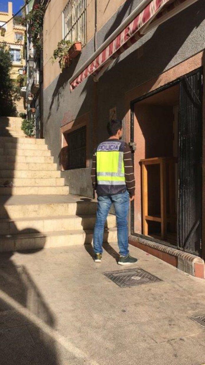Detenido el propietario de un local comercial de Alicante por tráfico de drogas