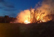 Sofocan un incendio causado por un cable de media tensión en Dénia