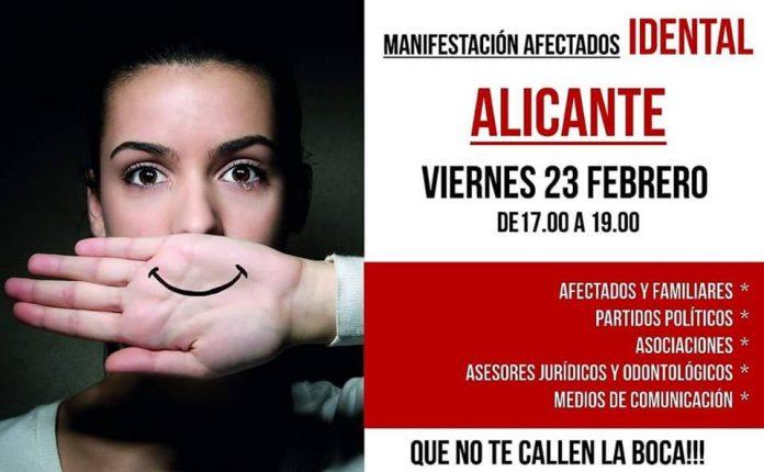CONCENTRACIÓN AFECTADOS IDENTAL ALICANTE - ELCHE