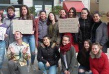 mujeres se manifiestan en Elda por la Igualdad