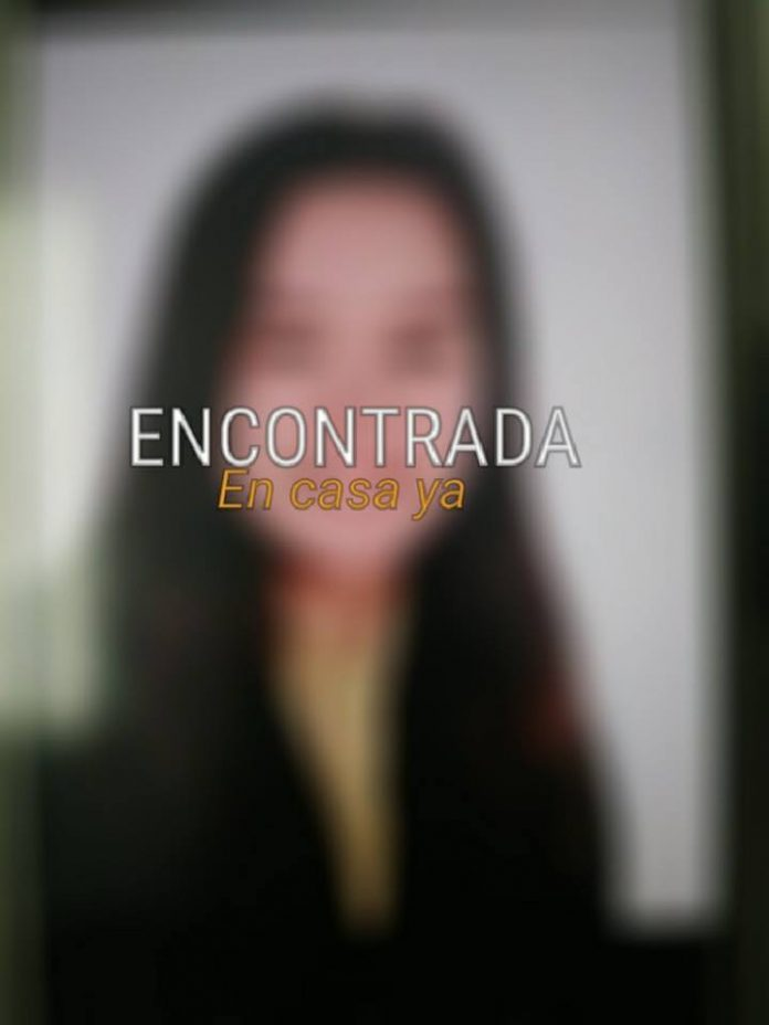 desaparecido una niña del colegio LA DEVESA de ELCHE.