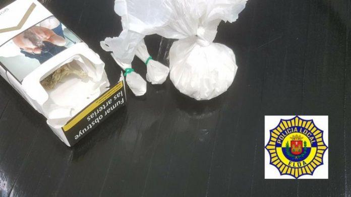Dos jóvenes detenidos en Elda con 22,5 gr de cocaína y marihuana