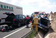 Villena: Dos heridos leves en un accidente