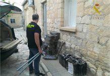 Sucesos La Guardia Civil detiene a cuatro hombres en Aspe y en Novelda por el robo de más de 3,5 toneladas de cobre