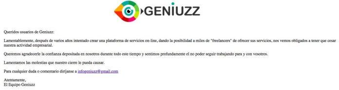 Geniuzz cierra dejando deudas a los compradores y vendedores