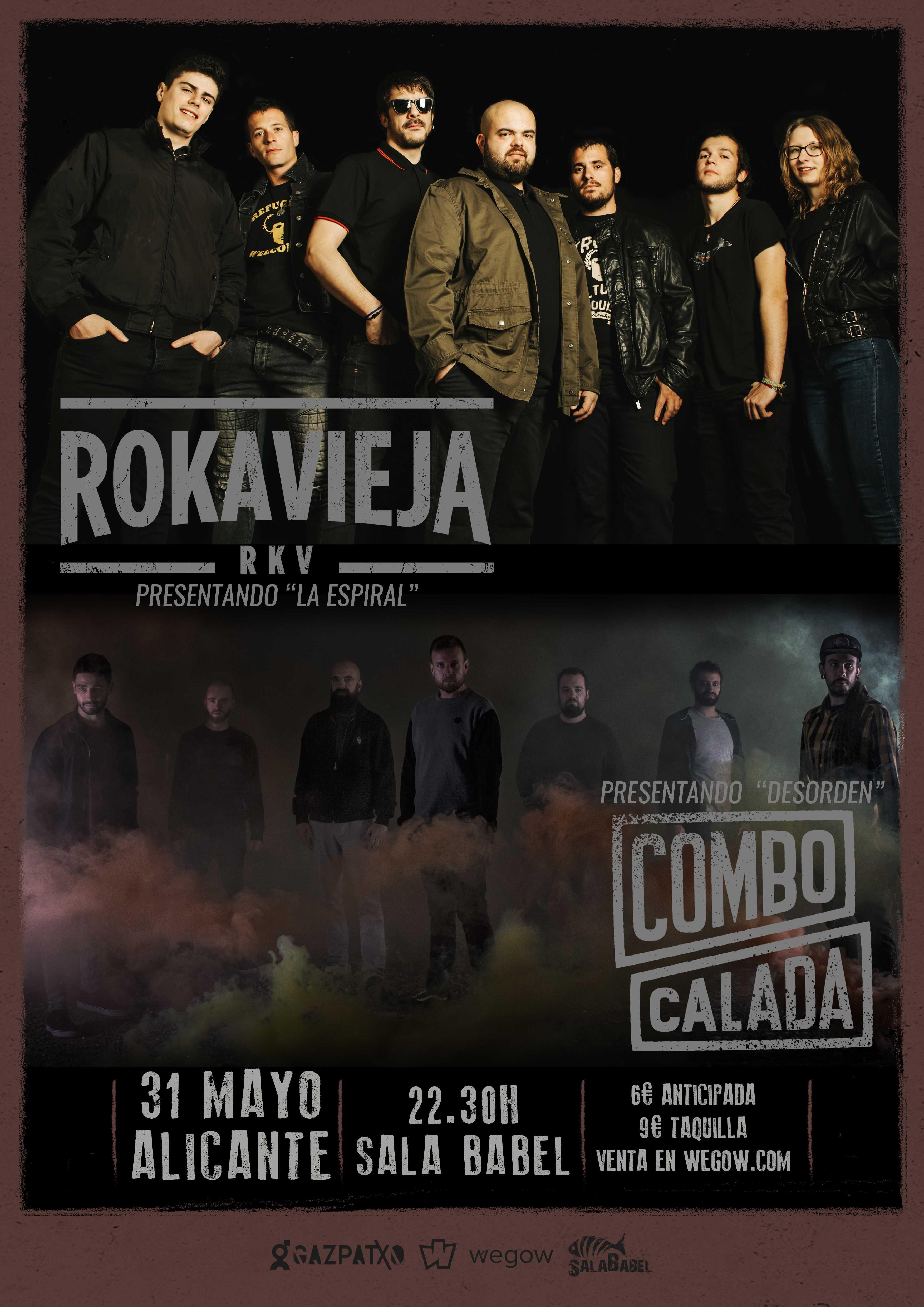 Combo Calada presenta su nuevo disco 'Desorden' en la sala Babel de Alicante