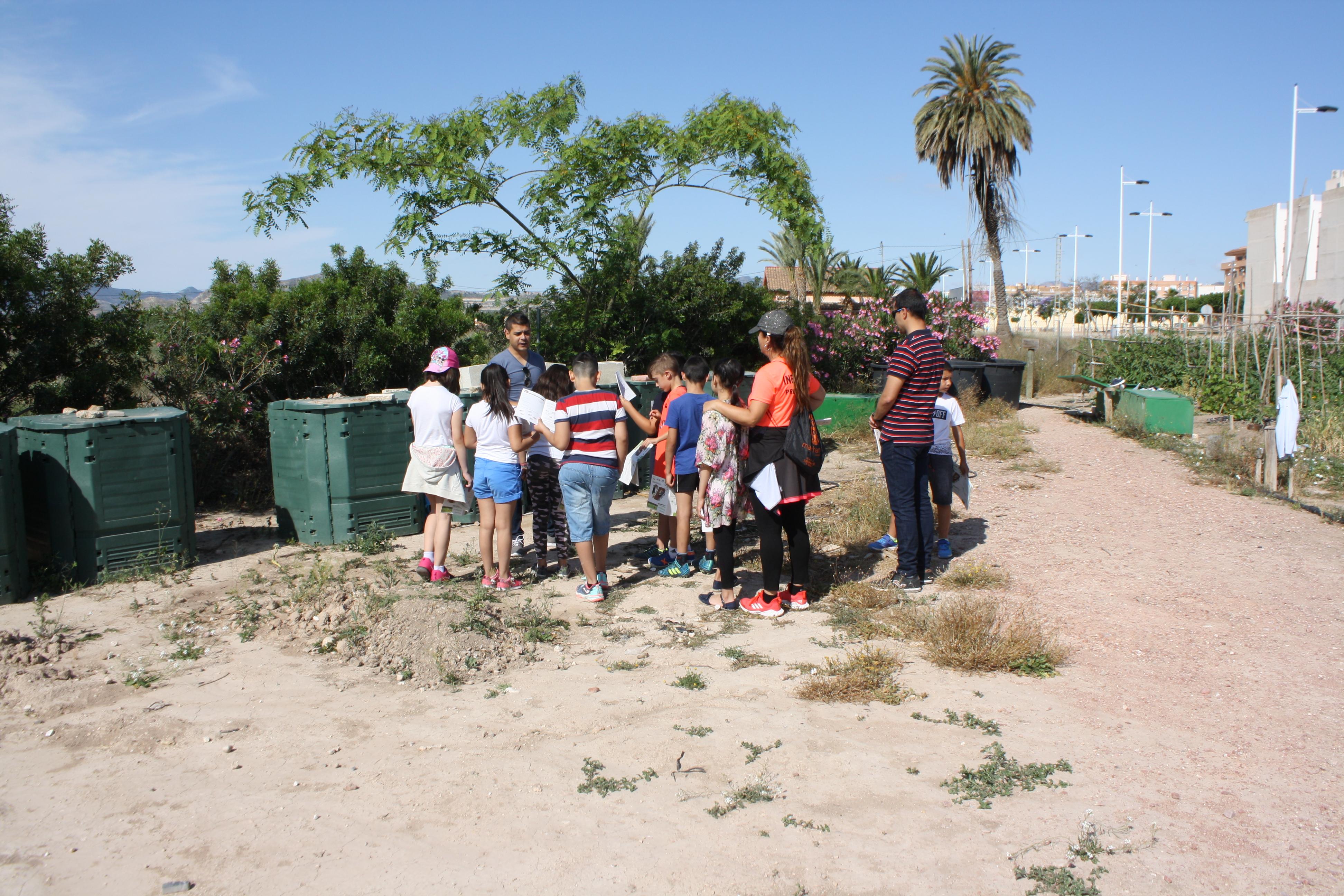 NOVELDA: Una visita a los Ecohuertos Municipales cierra la campaña de educación escolar medioambiental