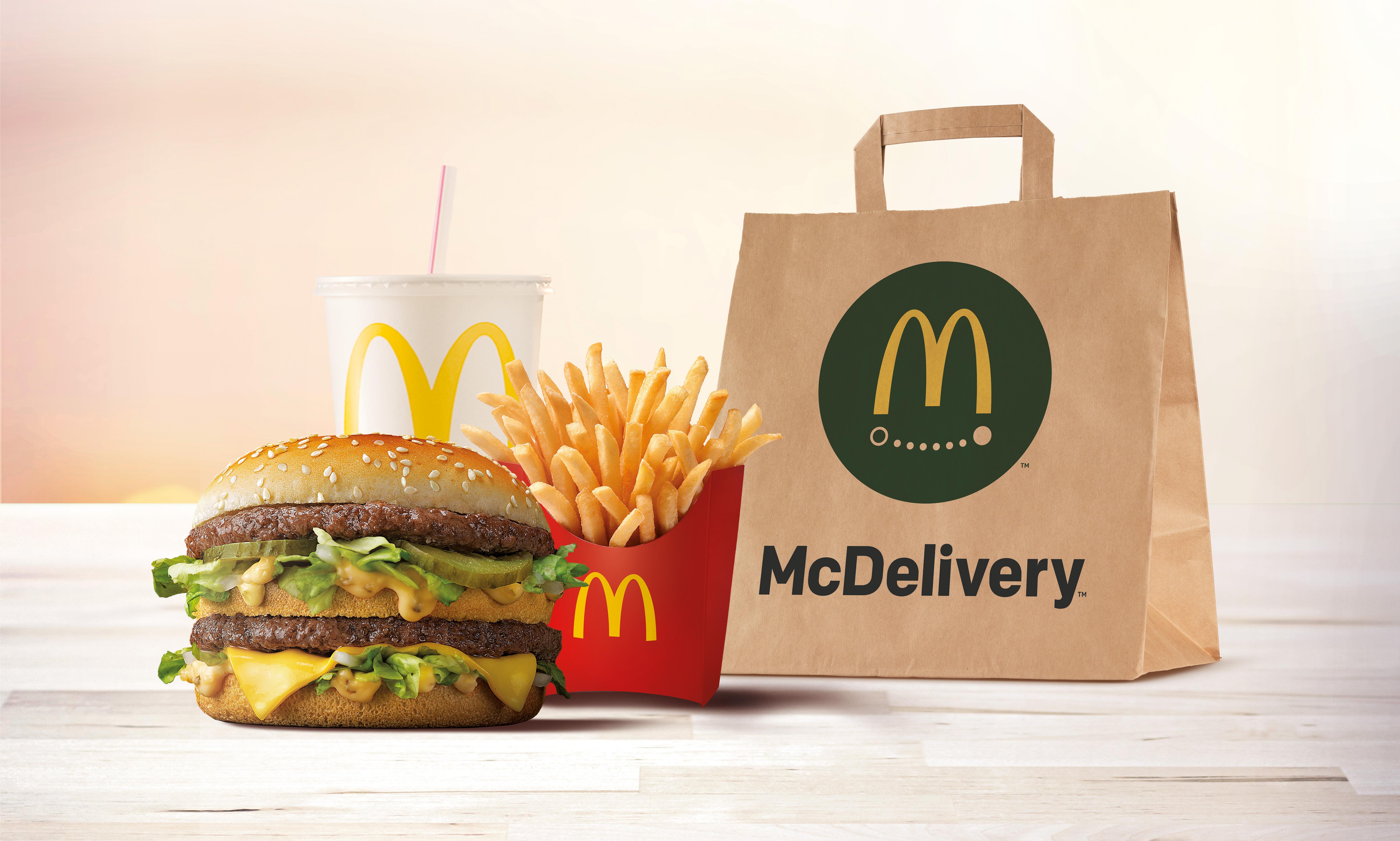 McDonald's lanza en Alicante su servicio de entrega a domicilio, McDelivery