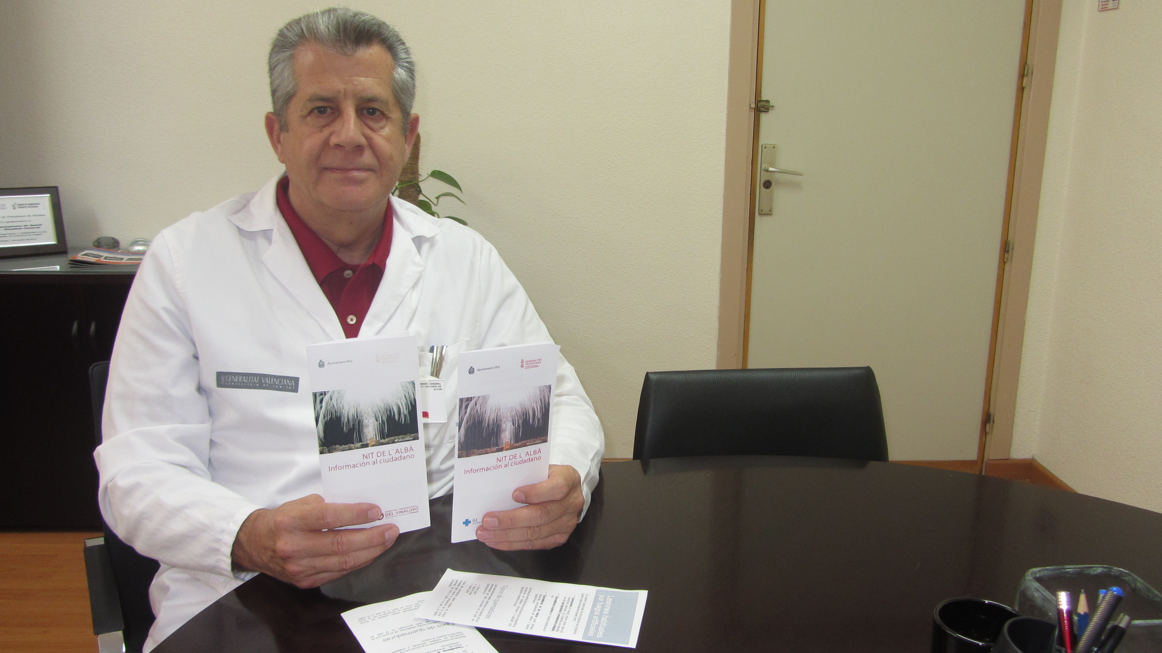 """Los hospitales General de Elche y Vinalopó elaboran un tríptico informativo conjunto con recomendaciones para la """"Nit de l'Albà"""""""