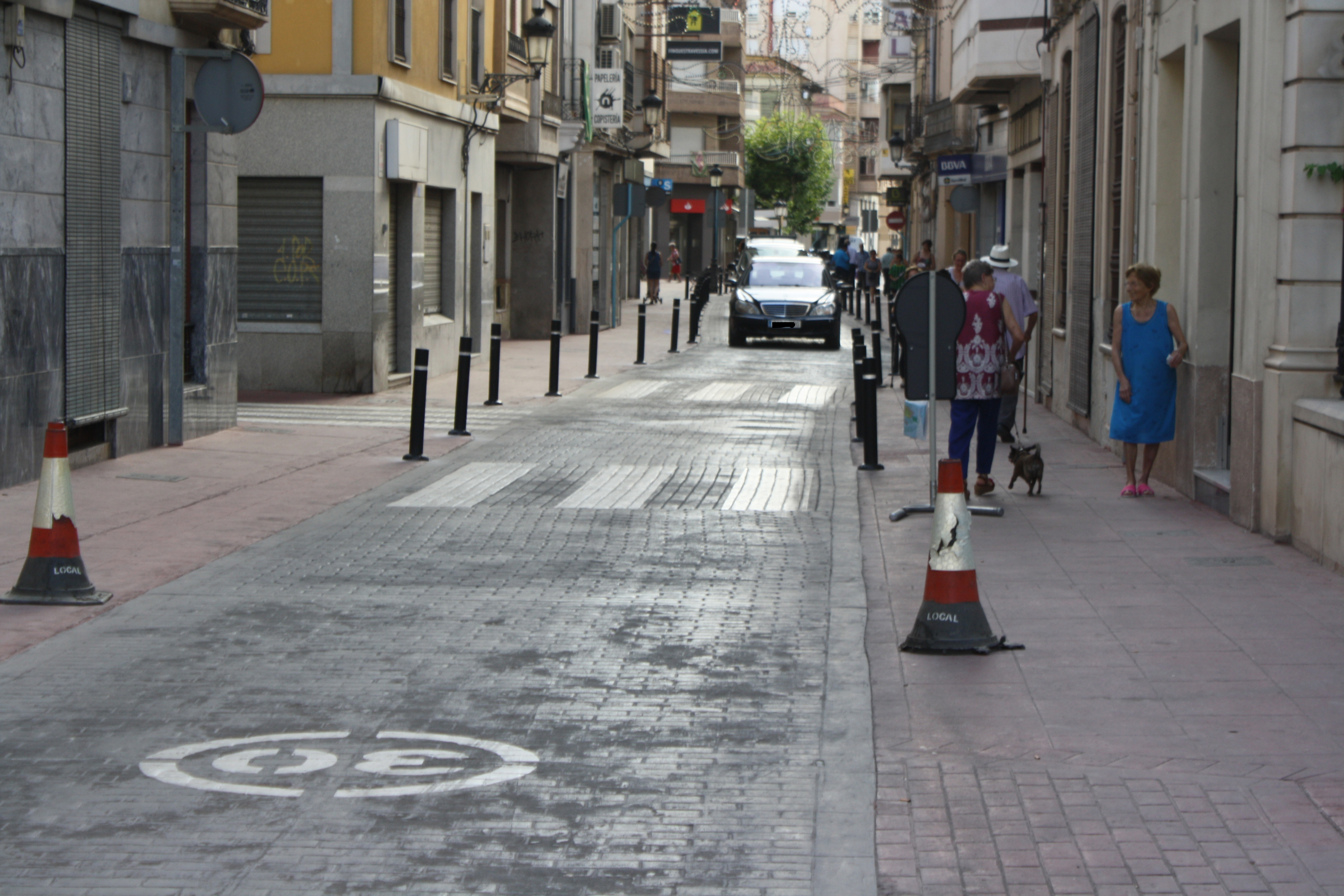 NOVELDA: Obras de eliminación de la zona de estacionamiento en Emilio Castelar y San Roque