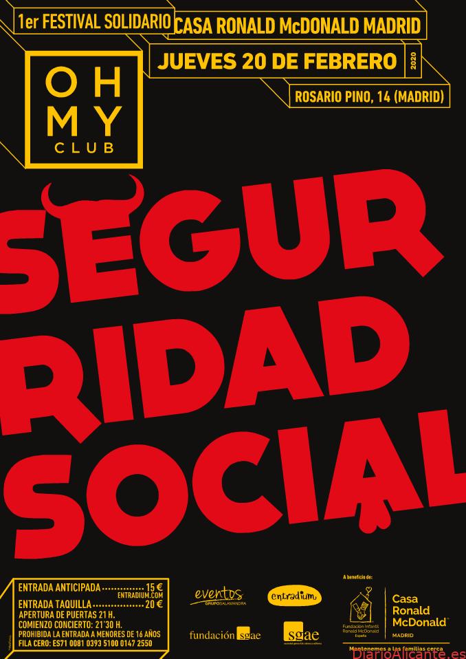 La Casa Ronald McDonald de Madrid y el grupo de rock Seguridad Social juntos por la solidaridad