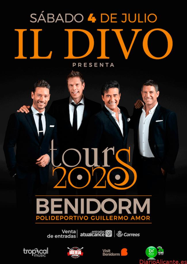 IL DIVO en BENIDORM - Concierto Gira 2020 TOUR - Sábado 4 de julio - Polideportivo Guillermo Amor