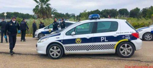 Detenidos dos Personas por huir de la Policía Local de Elche