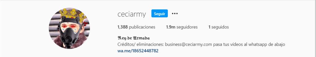 Ceciarmy ¿Quién está detrás de la cuenta más seguida en instagram?