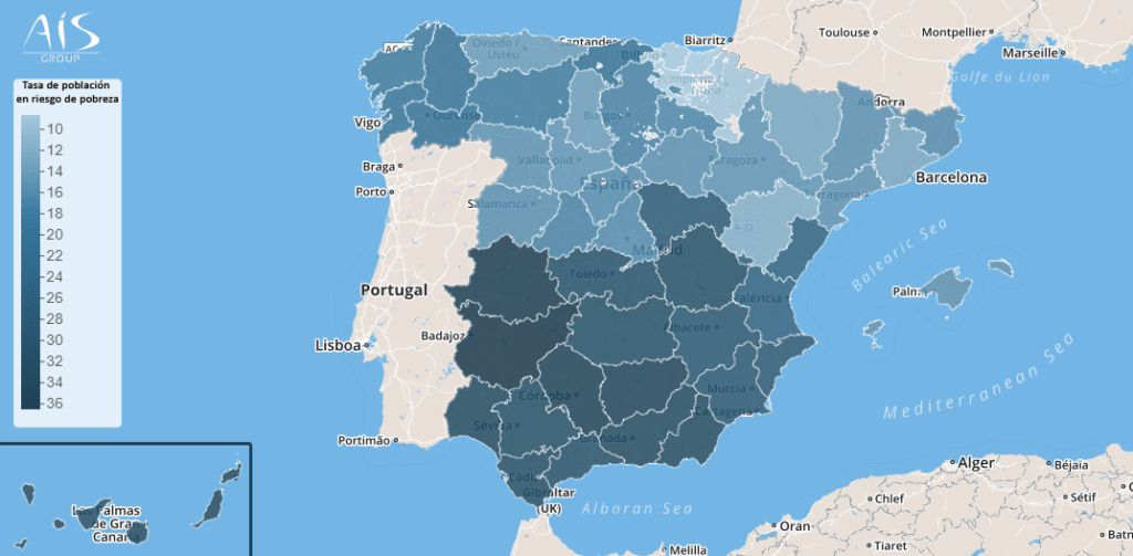 AIS pone a disposición de las instituciones el mapa de familias valencianas en riesgo de pobreza para facilitar la gestión de ayudas como el ingreso mínimo vital