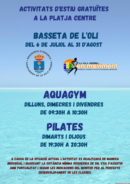 Deportes oferta un verano de actividades deportivas gratuitas en la playa Centro de la Vila