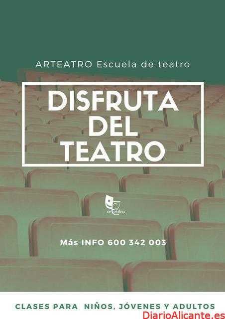 Todo listo para el nuevo curso de la escuela de arte dramático 'Arteatro' de la Vila Joiosa