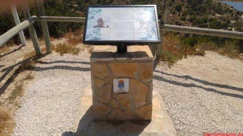 La Vila instala un monolito en homenaje a Antonio Torralbo en el Racò del Conill