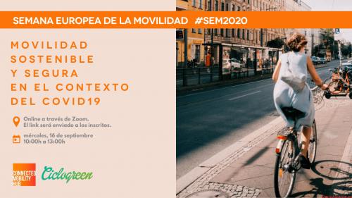 Una novedosa jornada online para inaugurar la Semana Europea de la Movilidad 2020