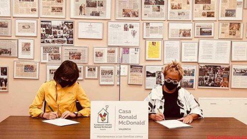 La Casa Ronald McDonald de Valencia y la cadena de ópticas Asun Oliver firman un convenio de colaboración