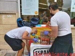 Españoles en Acción organiza otra recogida de alimentos en Elda por la Hispanidad