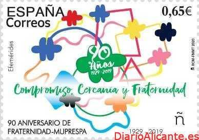 Correos emite un sello que conmemora el 90 aniversario de Fraternidad-Muprespa