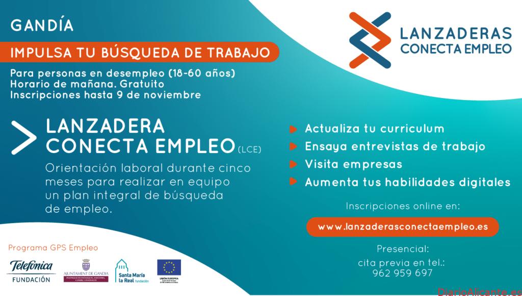 Gandía contará a partir de noviembre con una nueva Lanzadera Conecta Empleo
