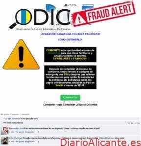 ¡Alerta, Timo! El ODIC detecta falsos sorteos de PlayStation5