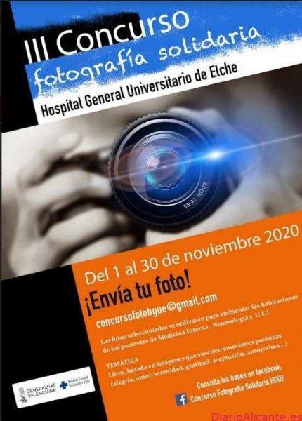 El Hospital General Universitario de Elche organiza el III concurso de fotografía solidaria