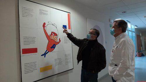 El Hospital General Universitario de Elche acoge una exposición permanente del artista ilicitano Fernando Bañuls
