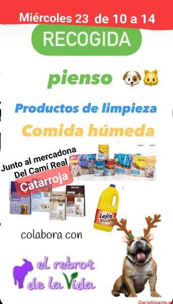 RECOGIDA SOLIDARIA DE ALIMENTOS PARA LOS ANIMALES RESCATADOS