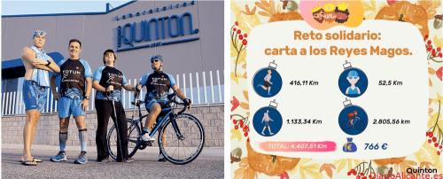 """El equipo de Quinton recorre más de 4mil km con su reto solidario """"Carta a los Reyes Magos"""""""
