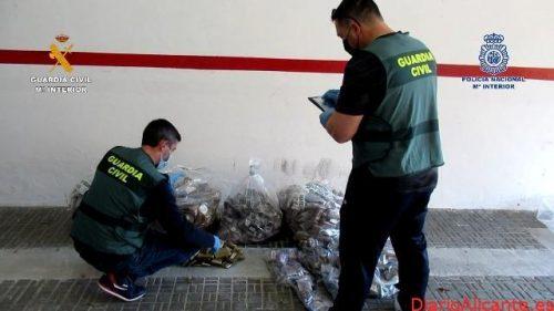 Desarticulado un importante entramado delictivo de tráfico de drogas y de transporte de migrantes a la península desde Melilla