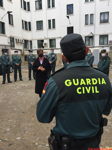 La Directora General de la Guardia Civil se reúne con los responsables de la Guardia Civil en la Ciudad Autónoma de Ceuta