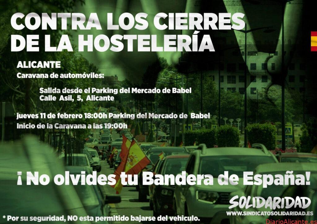 Solidaridad contra el cierre de la hostelería y las limitaciones de horario a los comerciantes