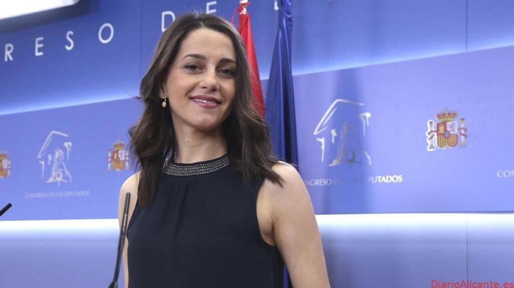 Sra. Dña. Inés Arrimadas, presidenta y diputada nacional de CIUDADANOS. Congreso de los Diputados
