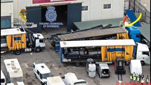 Desarticulada la estructura logística de una organización dedicada al tráfico de drogas que operaba en todo el litoral mediterráneo