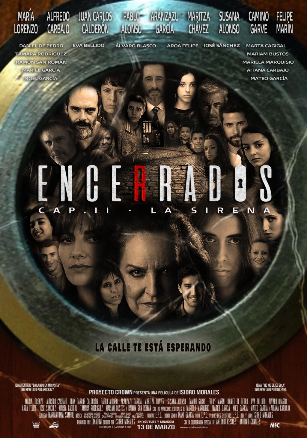 Presentación del poster oficial de la película Encerrados