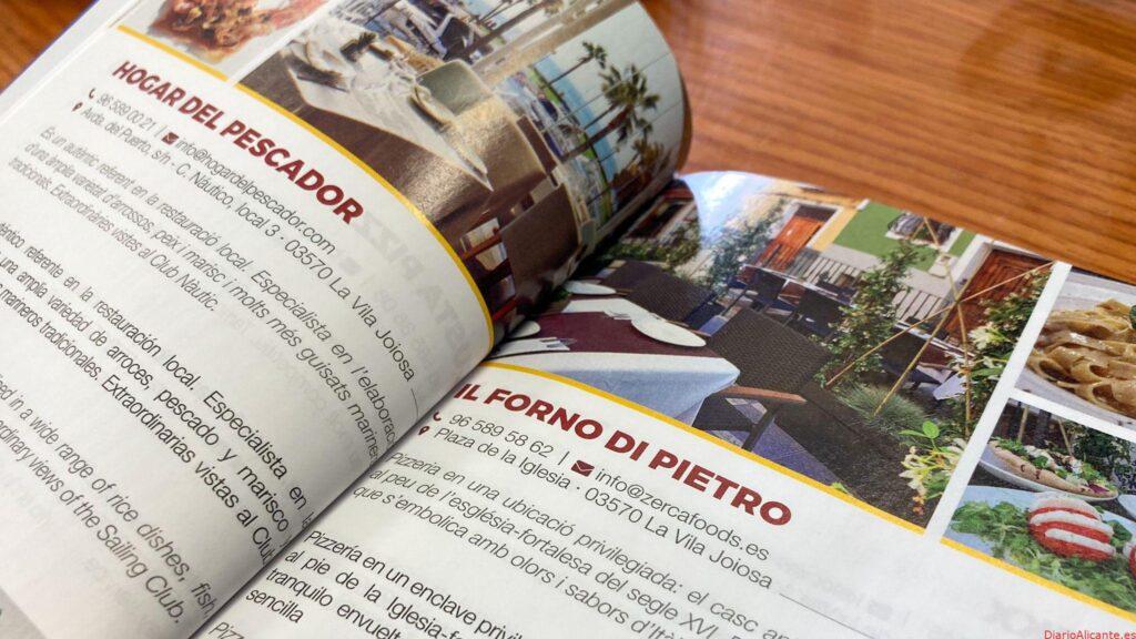 """El Ayuntamientolanza """"Menja't la Vila"""", una guía gastronómica con la información de bares y restaurantesde la Vila"""