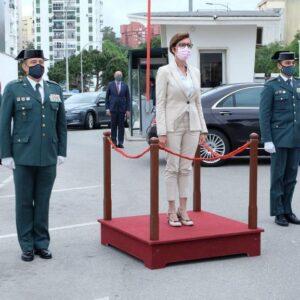 La Directora General se reúne con los responsables de la Guardia Civil en las Comandancias de Algeciras y Cádiz