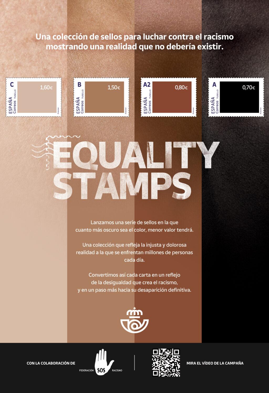"""Correos lanza """"Equality Stamps"""", unacolección de sellos contra la discriminación racial"""