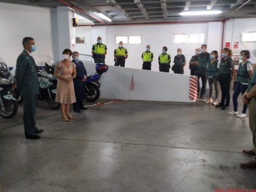 La directora general se reúne con los responsables de la Guardia Civil en Murcia