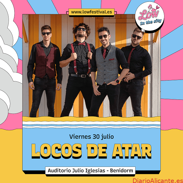La banda de Benidorm, Locos de Atar, participará en Low In The City el viernes 30 de julio